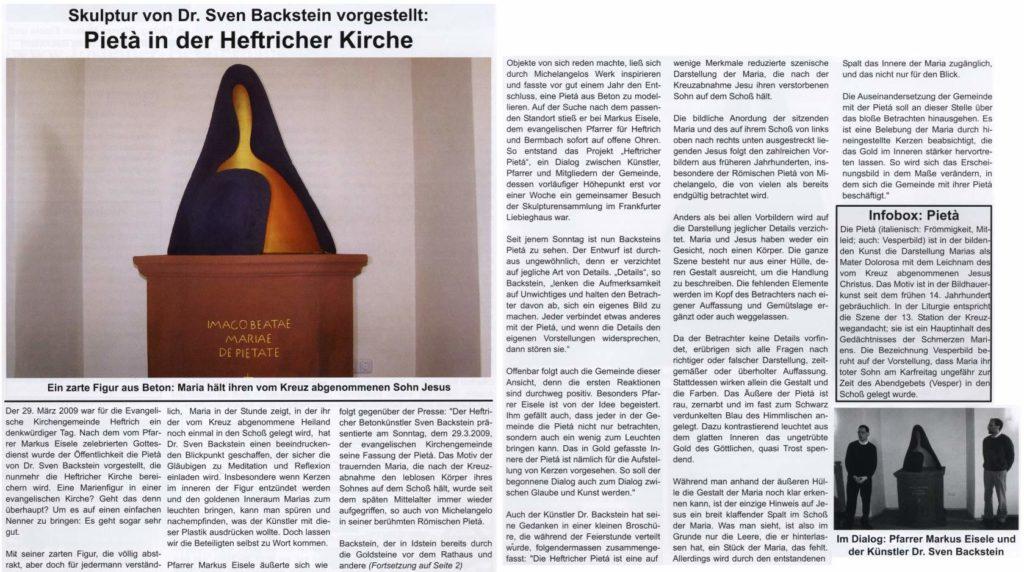 Heftricher Zeitung vom 29. März 2009