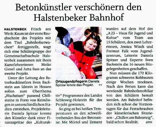 Pinneberger Tagblatt vom 16. Juli 2010