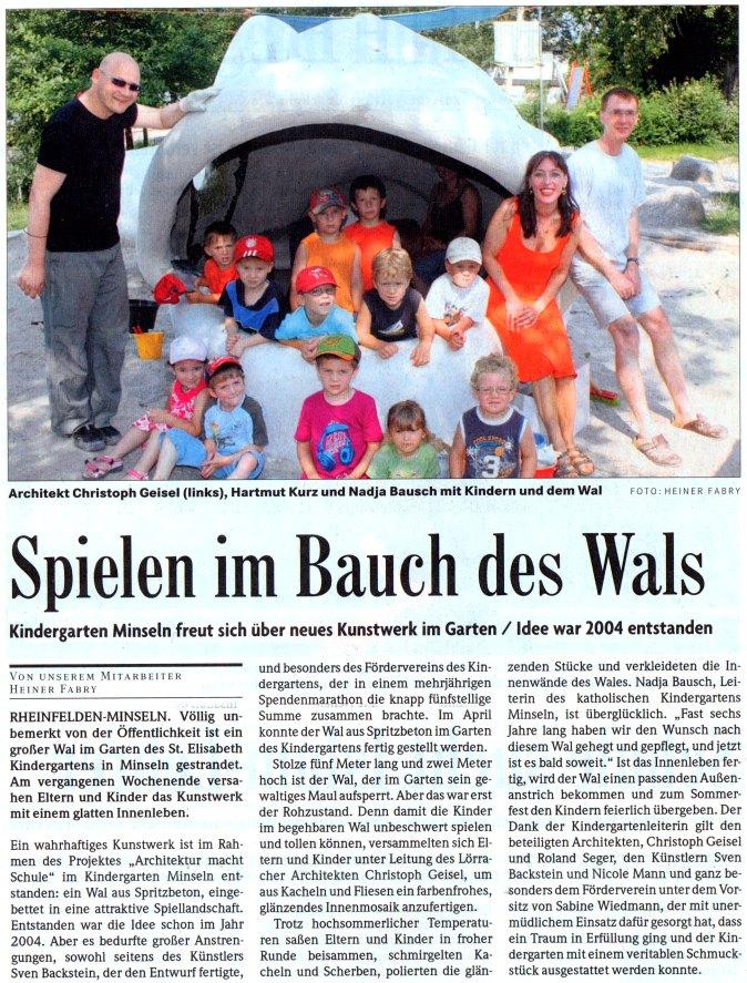 Badische Zeitung vom 7. Juli 2010