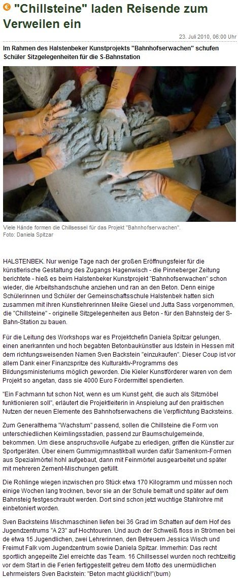 Pinneberger Zeitung vom 23. Juli 2010