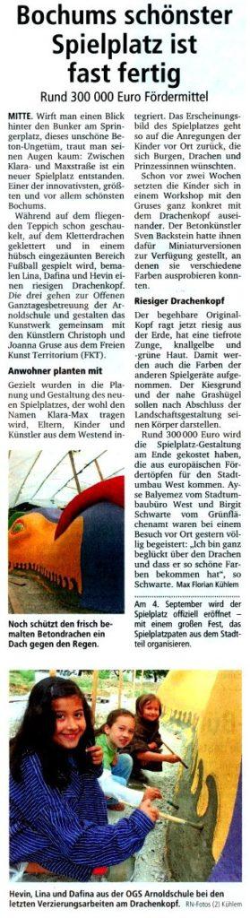 Ruhr Nachrichten 4. Aug 2010