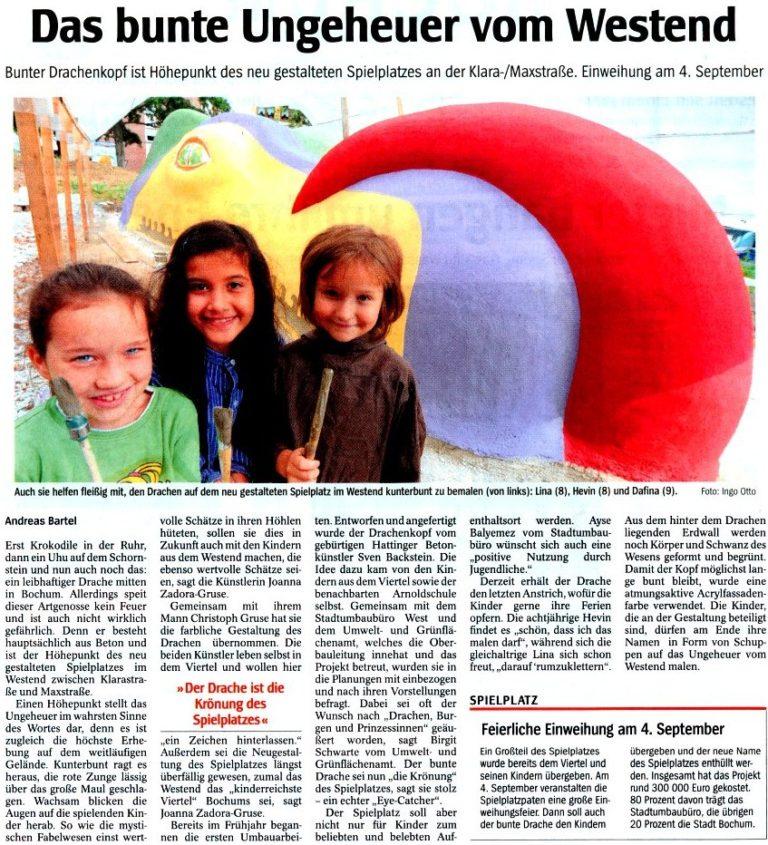WAZ vom 4. August 2010