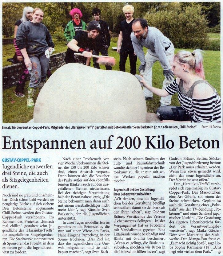 Solinger Tageblatt vom 2. September 2011