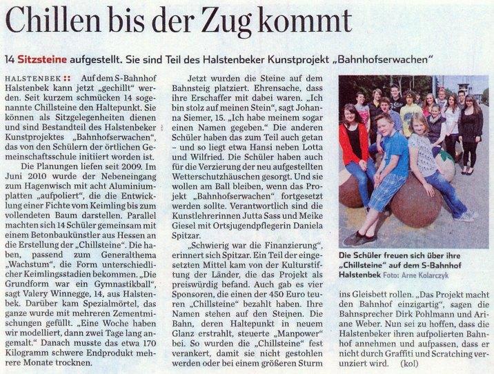 Pinneberger Zeitung vom 30. Mai 2011